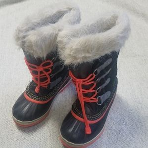 Sorel Black and Pink Boots